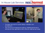 in house lab services