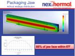 packaging jaw without wattage distribution