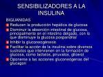 sensibilizadores a la insulina