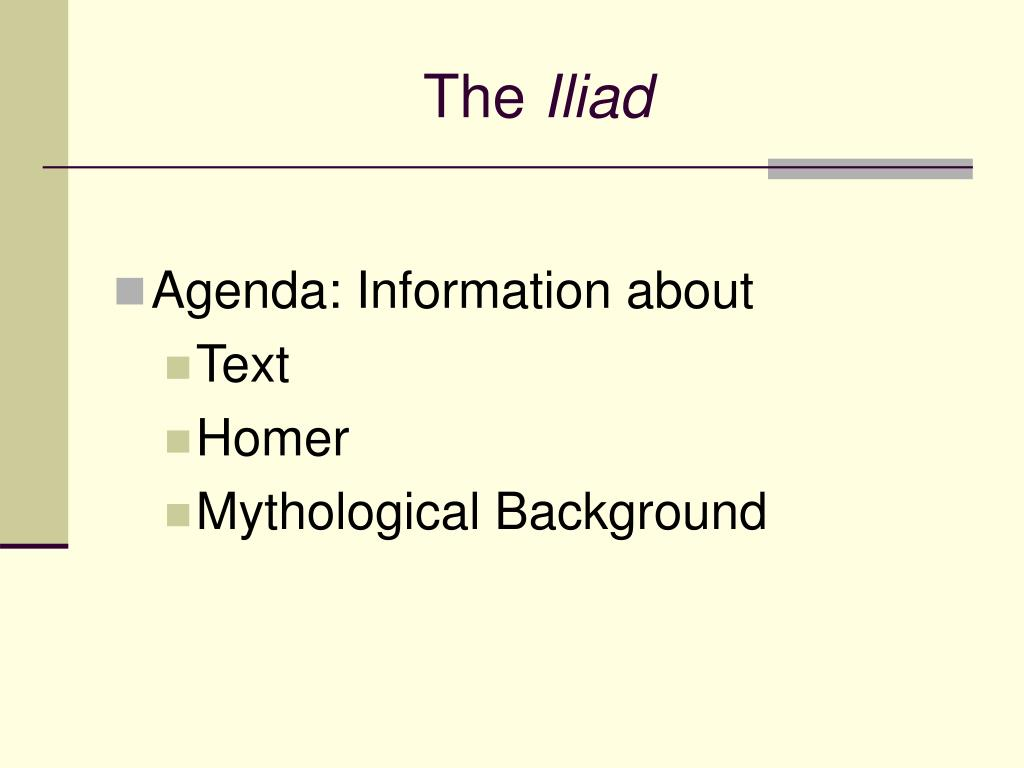 the iliad l.