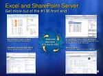 excel and sharepoint server get more out of the 1 bi front end