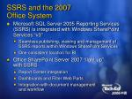 ssrs and the 2007 office system