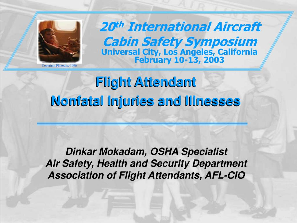 flight attendant nonfatal injuries and illnesses l.