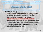 reardon study 1988