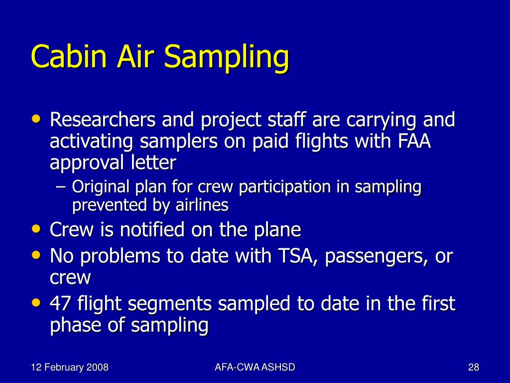 Cabin Air Sampling