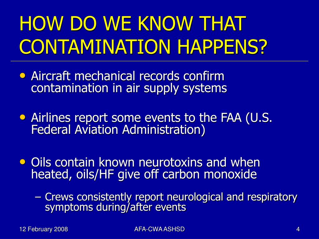 HOW DO WE KNOW THAT CONTAMINATION HAPPENS?
