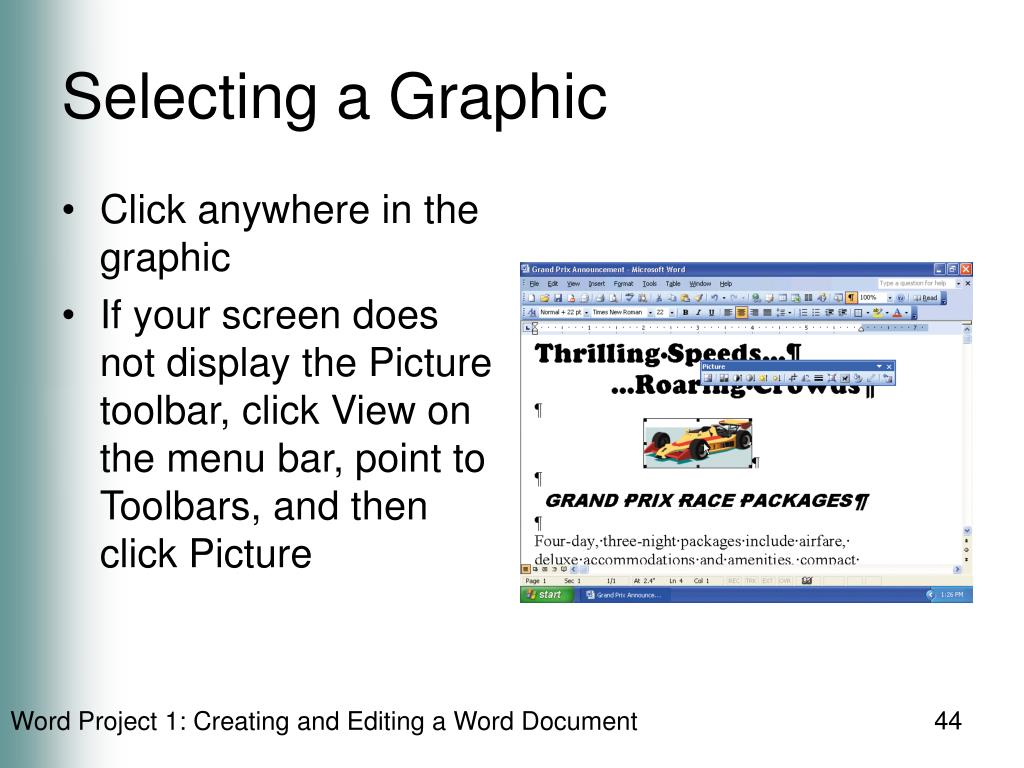 Selecting a Graphic