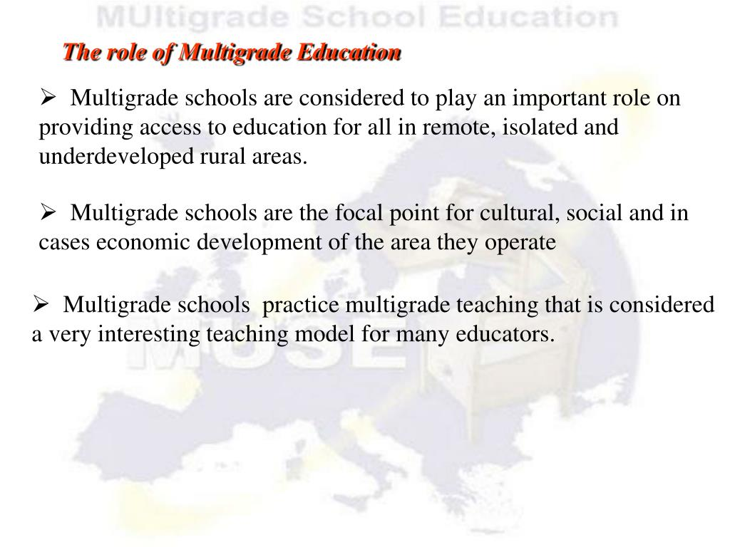 The role of Multigrade Education