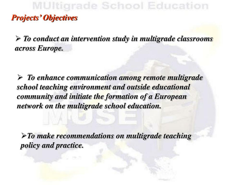 Projects' Objectives