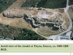 aerial view of the citadel at tiryns greece ca 1400 1200 bce