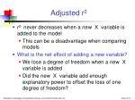 adjusted r 2