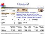 adjusted r 215