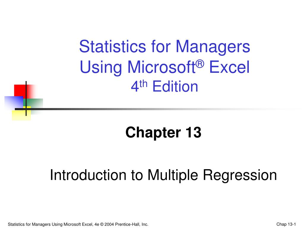 chapter 13 introduction to multiple regression l.