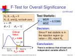 f test for overall significance24