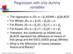 regression with only dummy variables36