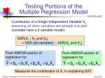 testing portions of the multiple regression model45
