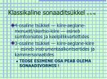 klassikaline sonaadits kkel tv lk 48