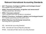 relevant international accounting standards