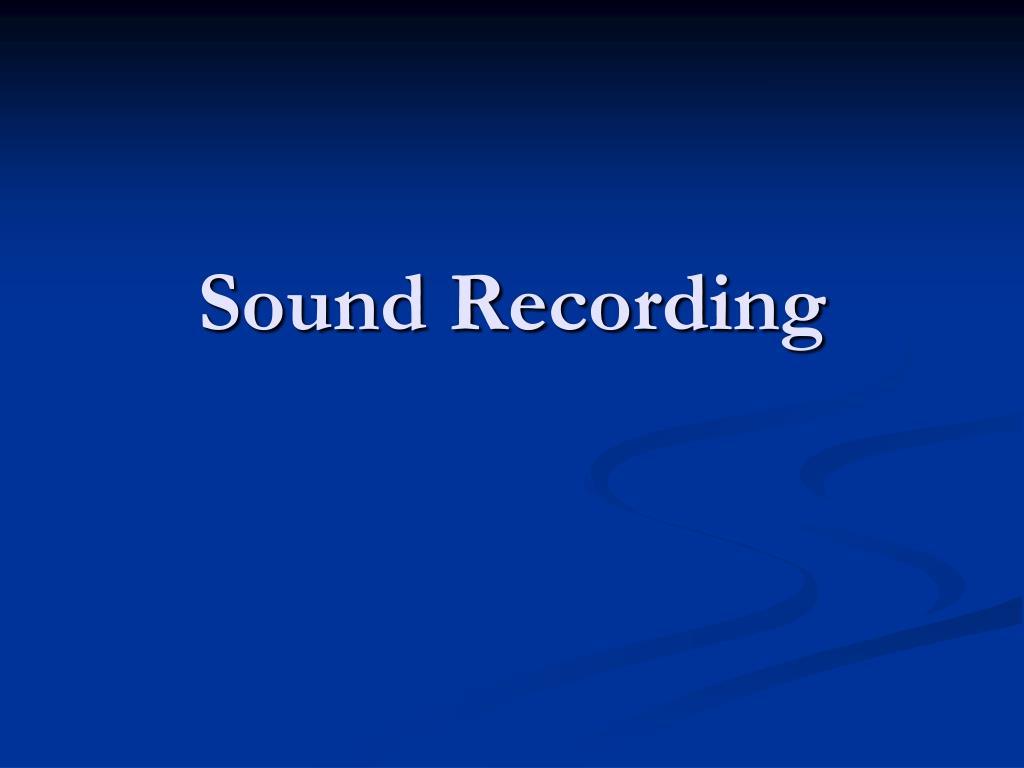 sound recording l.