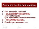animation der folien berg nge