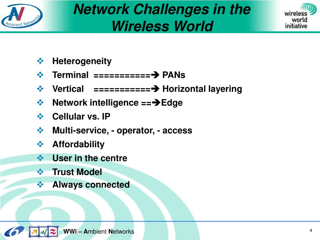 Network Challenges in the Wireless World