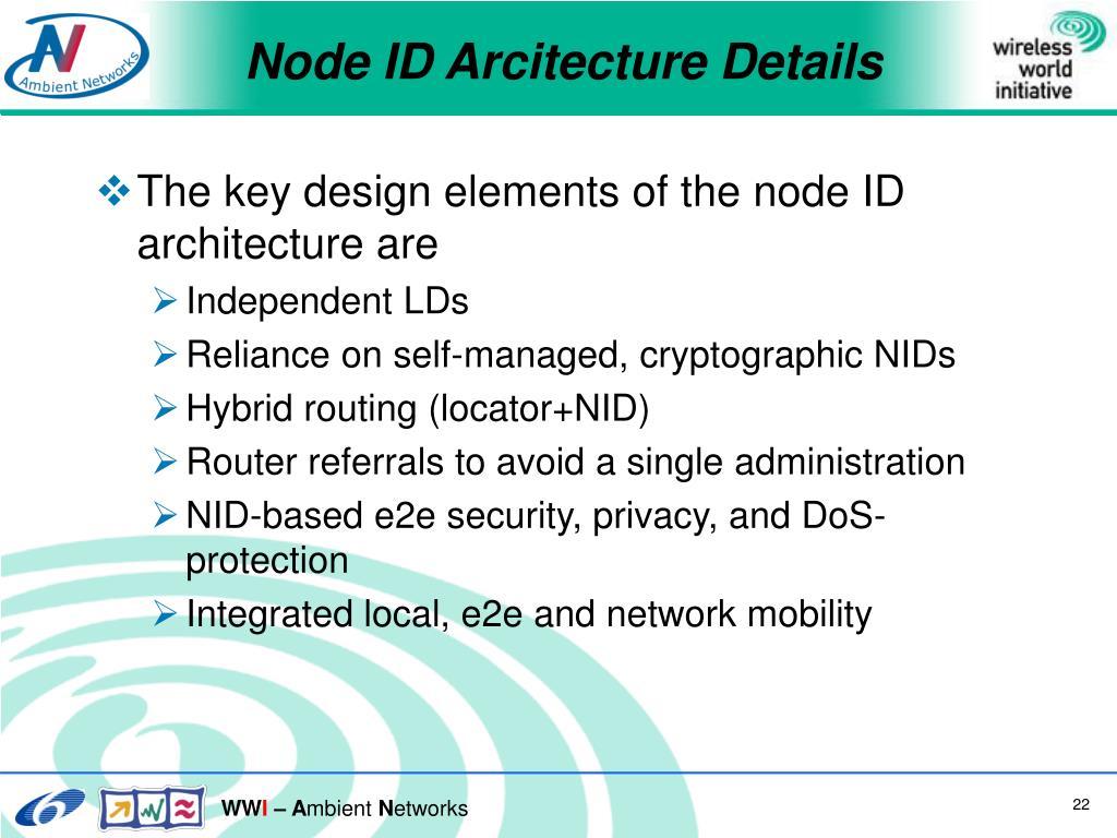 Node ID Arcitecture Details