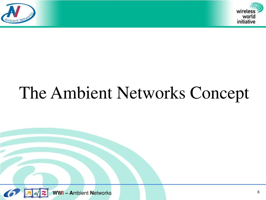 The Ambient Networks Concept