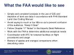 what the faa would like to see
