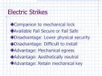 electric strikes