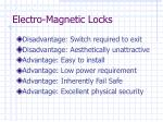 electro magnetic locks49