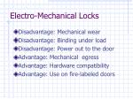 electro mechanical locks44