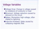 voltage variables