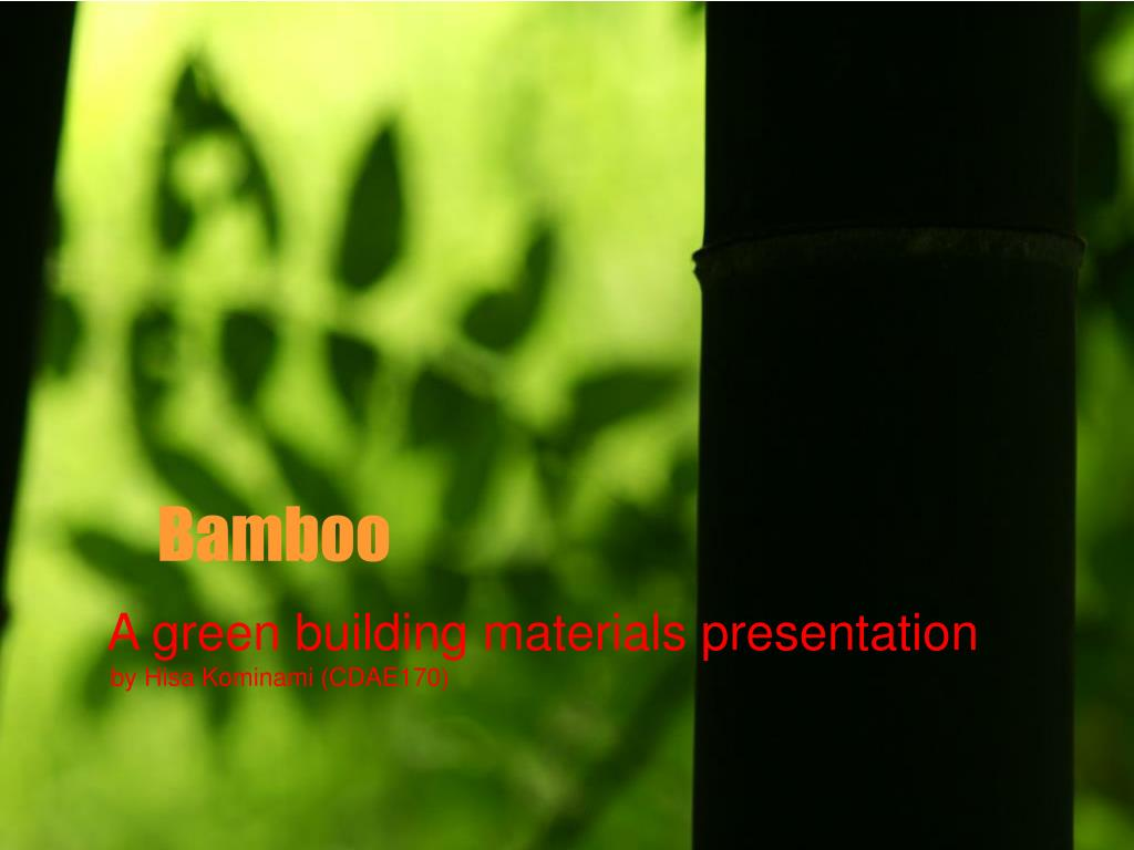 ppt bamboo powerpoint presentation id 168474