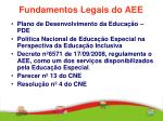 fundamentos legais do aee