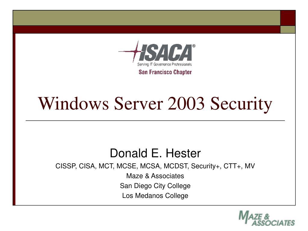 windows server 2003 security l.