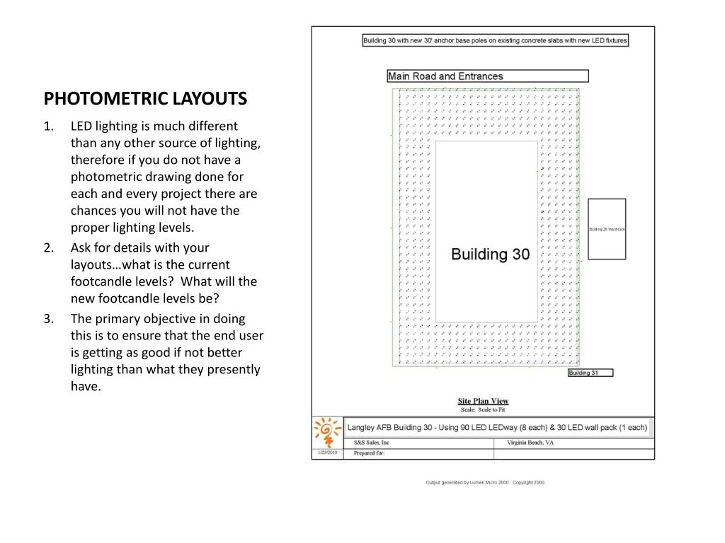PHOTOMETRIC LAYOUTS