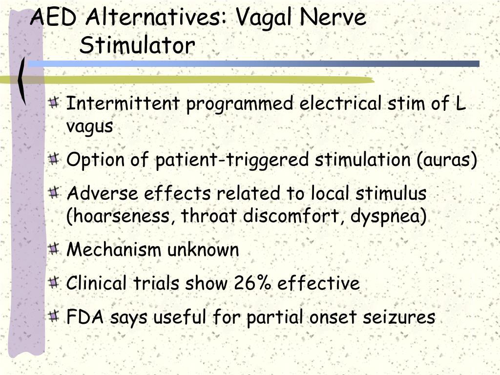 AED Alternatives: Vagal Nerve Stimulator