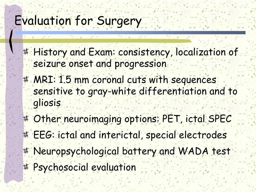 Evaluation for Surgery