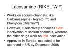 lacosamide rikelta tm