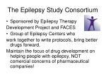 the epilepsy study consortium