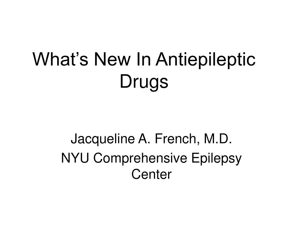 what s new in antiepileptic drugs l.
