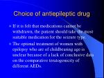 choice of antiepileptic drug