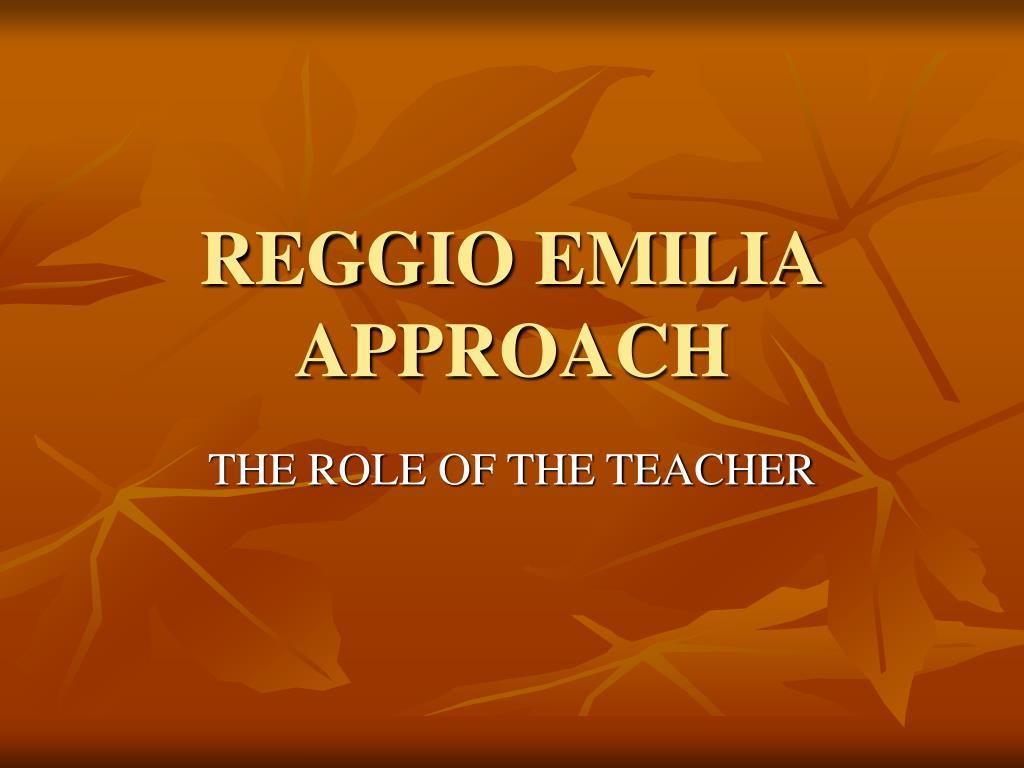reggio emilia approach l.
