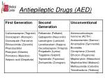 antiepileptic drugs aed