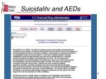 suicidality and aeds