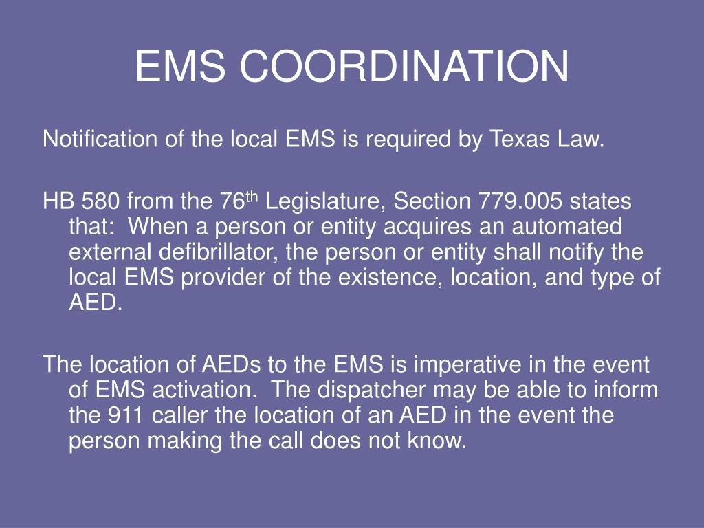 EMS COORDINATION