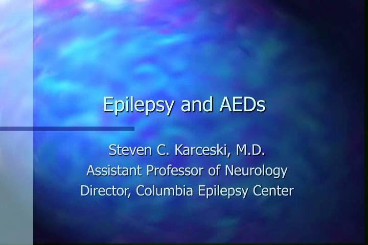 epilepsy and aeds n.
