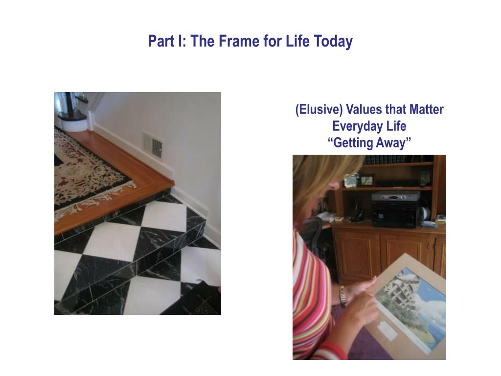 Part I: The Frame for Life Today