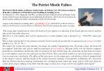 the patriot missile failure