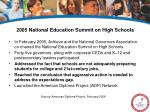 2005 national education summit on high schools
